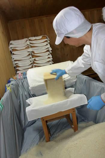 米麹を麹蓋に盛り分けていく、白味噌(西京味噌)の作り方、手順
